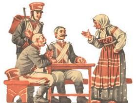 солдатская шинель сказка картинки